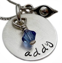 Load image into Gallery viewer, Personalized Sterling Silver Pea in a Pod Necklace