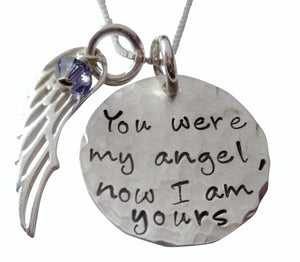 Personalized You Were My Angel Necklace