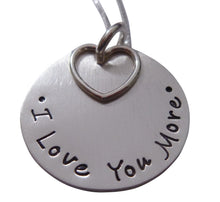 Load image into Gallery viewer, Stamped I Love You More Necklace