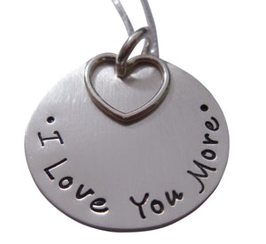 Stamped I Love You More Necklace