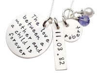 Stamped Love between a Mother and a Child Necklace