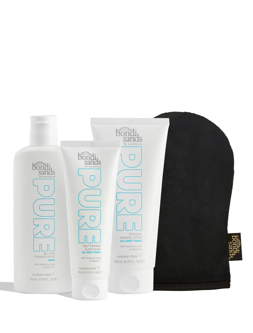 The Pure Essentials Sustainable Self Tanning Routine Dark