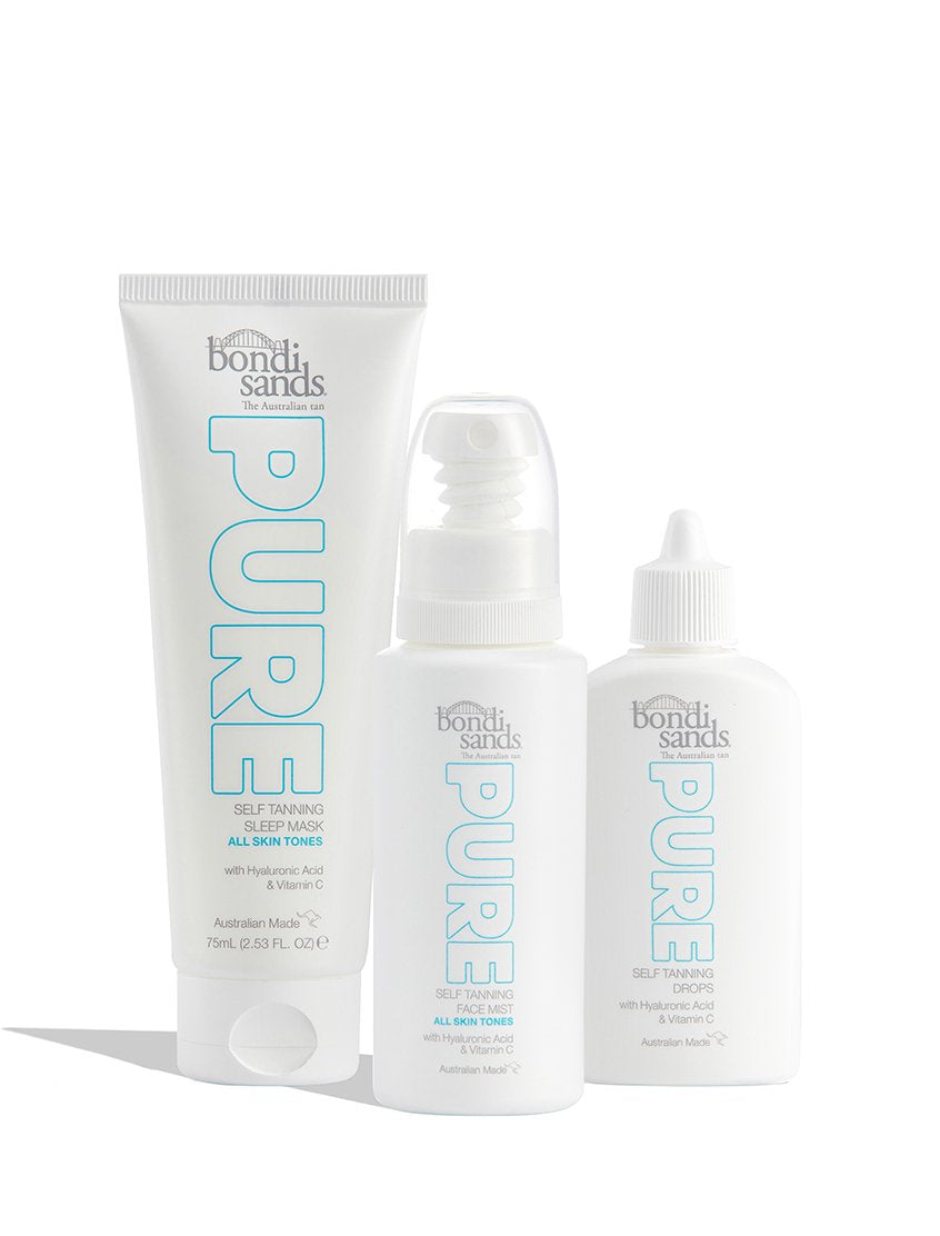 Get Up and Glow Pure Sustainble Self-Tanning Face Routine