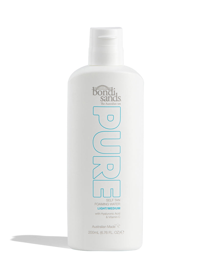 Pure Self Tan Foaming Water Light / Medium Shade in a Recyclable Plastic Bottle