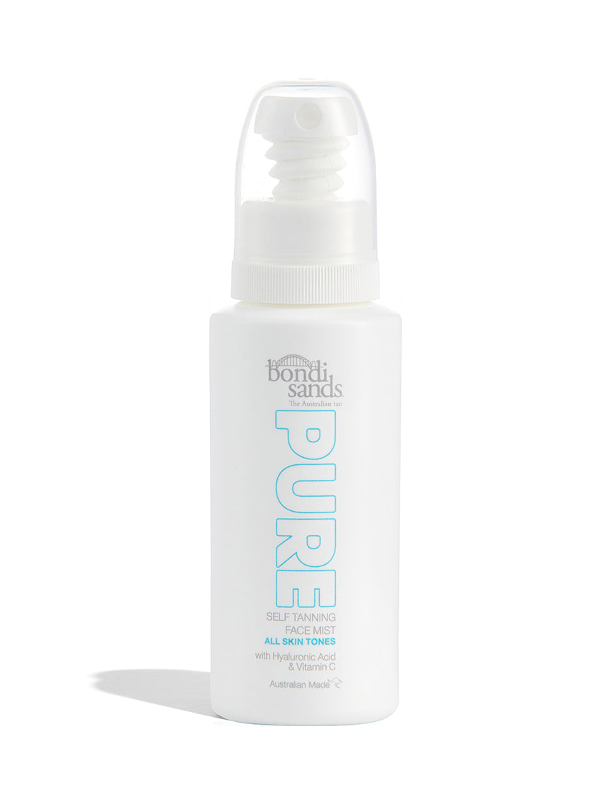 Pure Self Tanning Face Mist in a Recyclable Plastic Spray Bottle