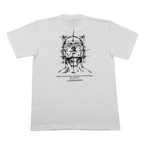 Load image into Gallery viewer, 5 Dimensions Logo Tee, White