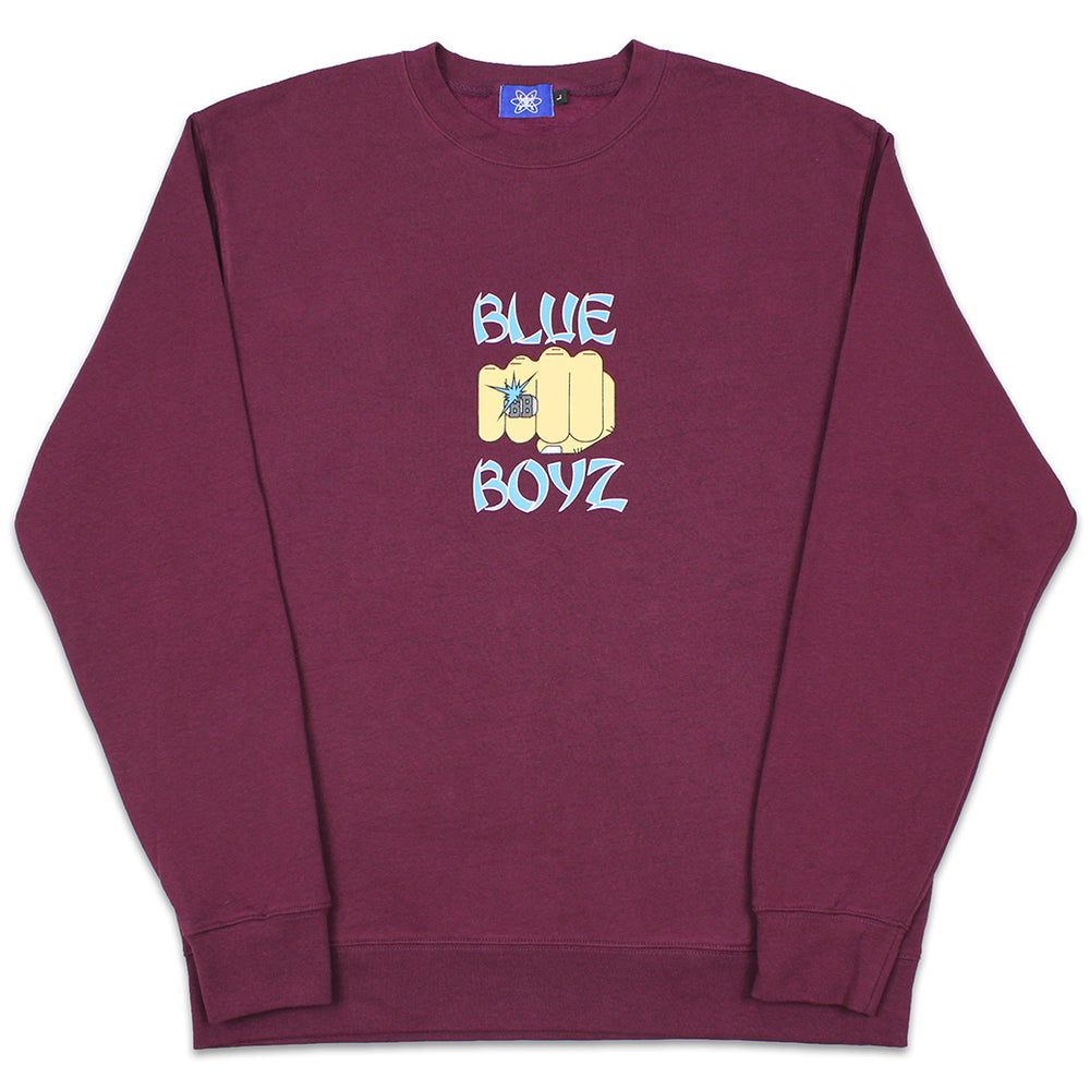 BB Fist Crewneck Sweatshirt, Burgundy