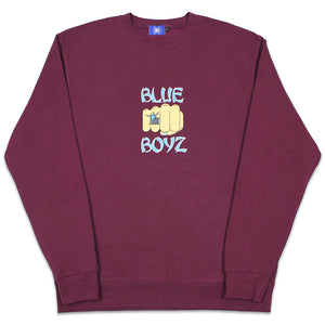 Load image into Gallery viewer, BB Fist Crewneck Sweatshirt, Burgundy