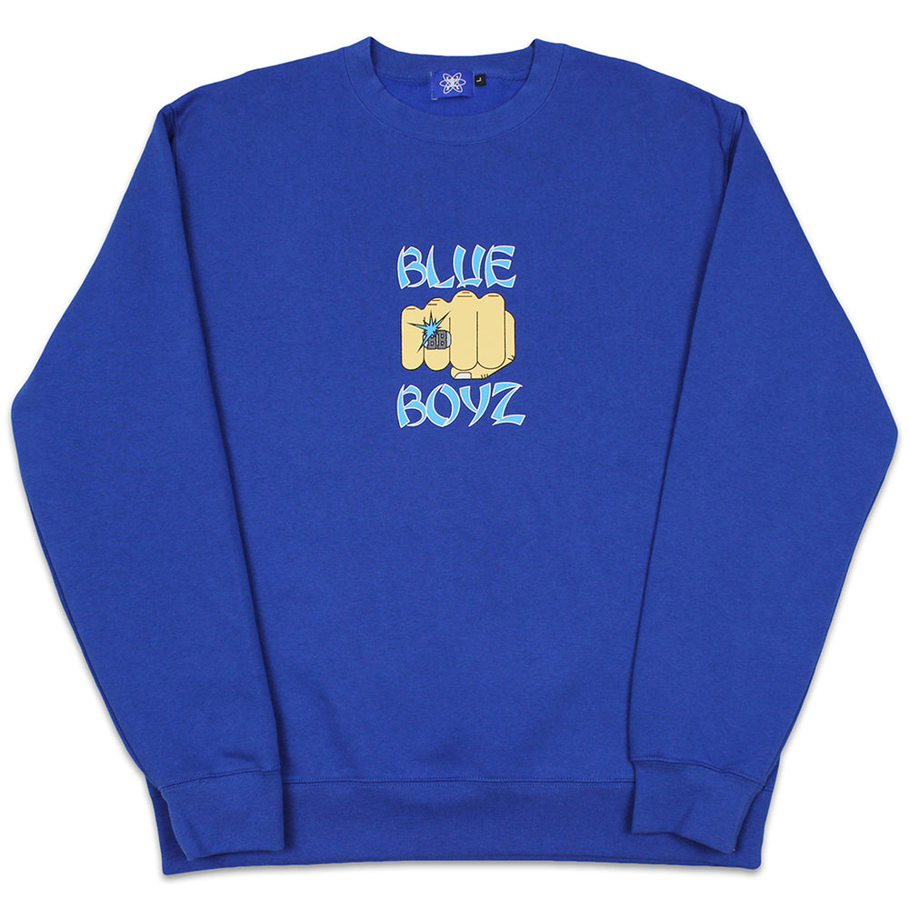 Load image into Gallery viewer, BB Fist Crewneck Sweatshirt, Blue