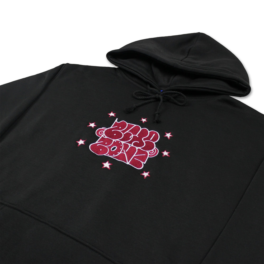 Throwie Embroidered Logo Hoodie, Black