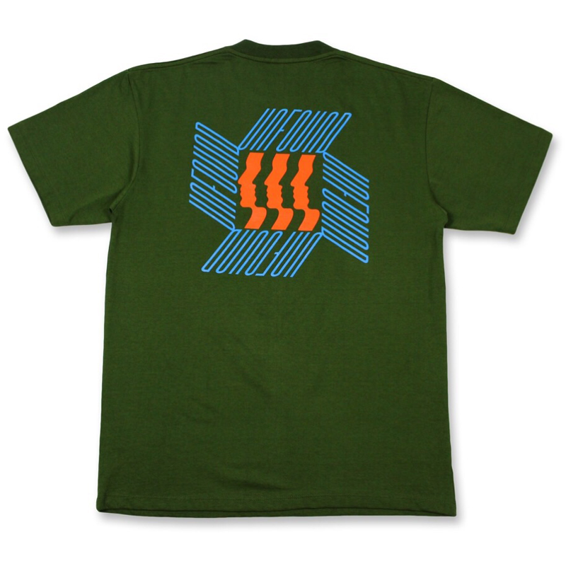 Face Tee, Dark Green