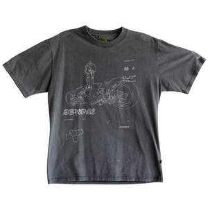 Load image into Gallery viewer, Qwerty Bleached Tee, Carbon Grey