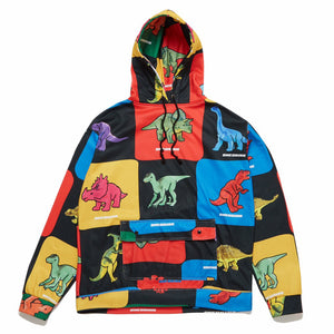 Load image into Gallery viewer, Dinosaur Overprint Hoodie, Multi Color