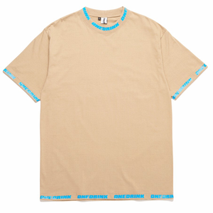 Logo Overprint Tee, Brown