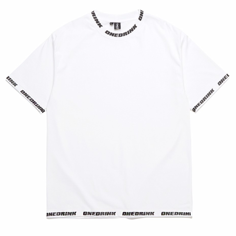 Load image into Gallery viewer, Logo Overprint Tee, White