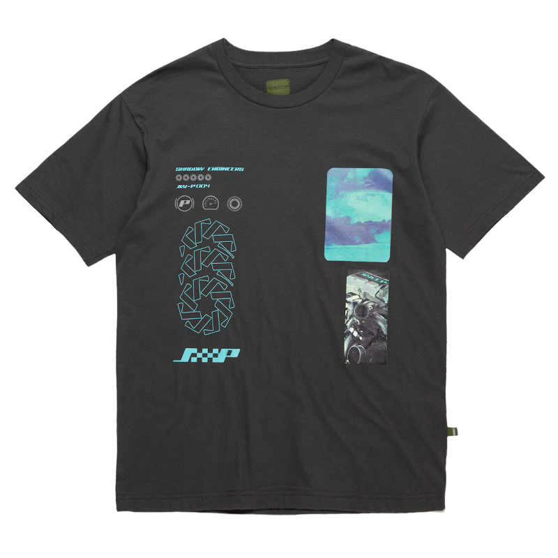 Load image into Gallery viewer, Shadow Engineers Engine Tee, Carbon Grey
