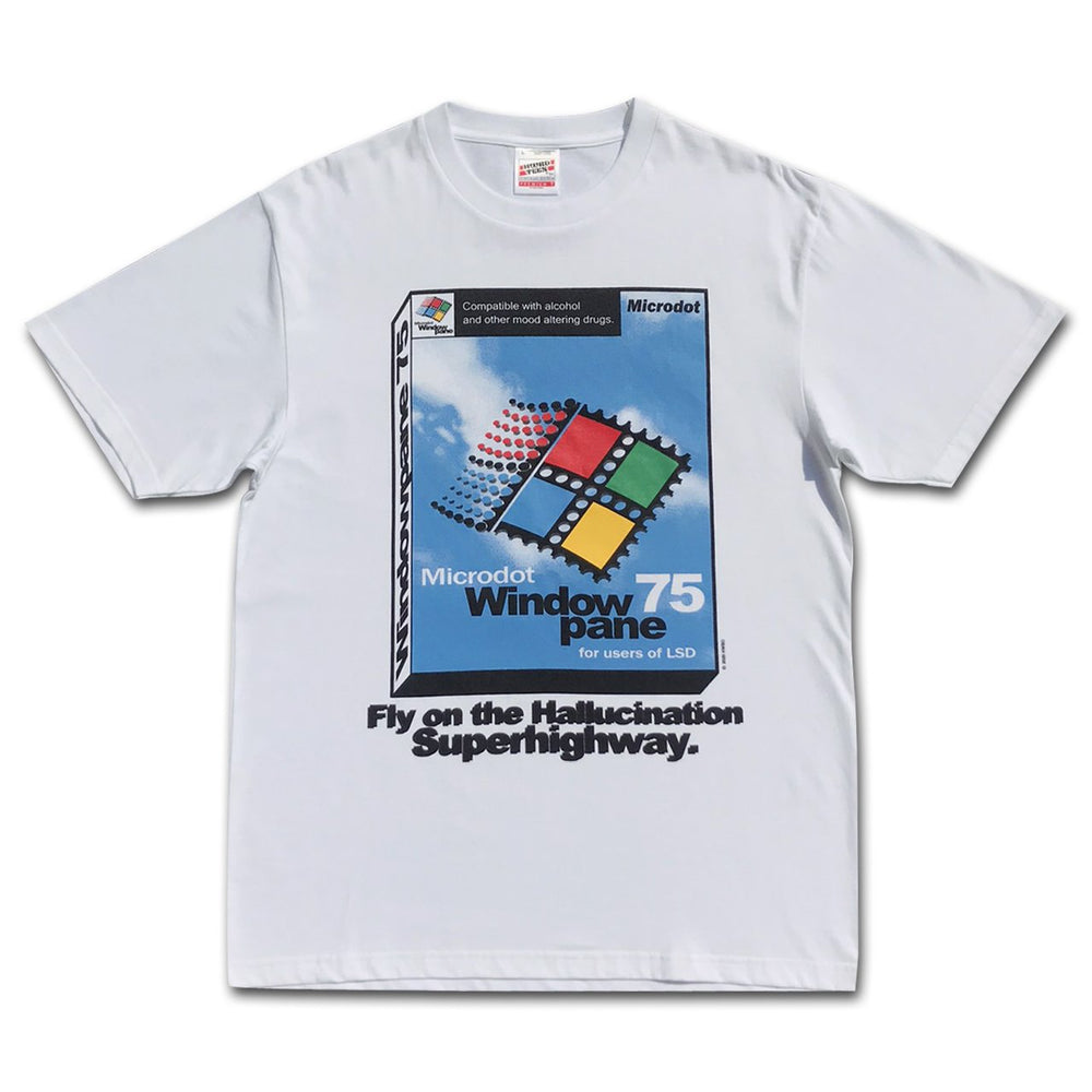 Windowpane 75 Tee, White