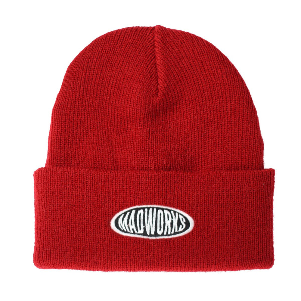 Oval Logo Beanies Hat, Red