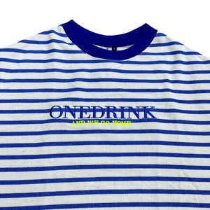 Stripe Tee, White/Blue