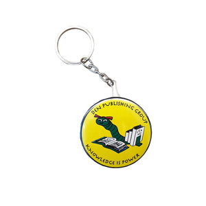 Bookworm Bottle Opener Keychain, Yellow