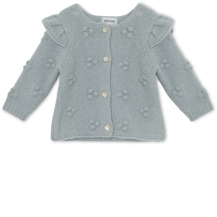 MINI A TURE NICOLINE CARDIGAN - PURITAN GREY