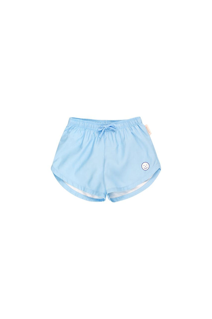 'HAPPY FACE' TRUNKS MILD BLUE/OFF-WHITE