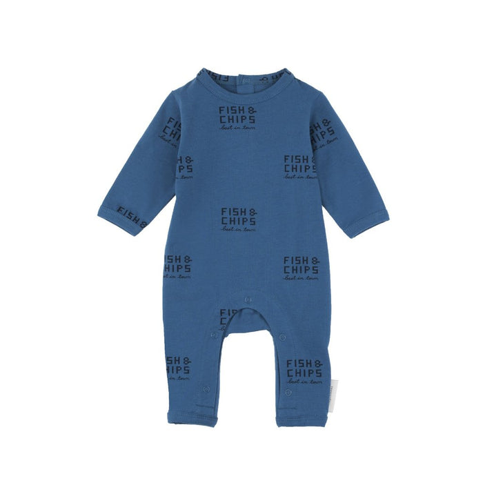 FISH AND CHIPS LS ONE-PIECE LIGHT NAVY/NAVY