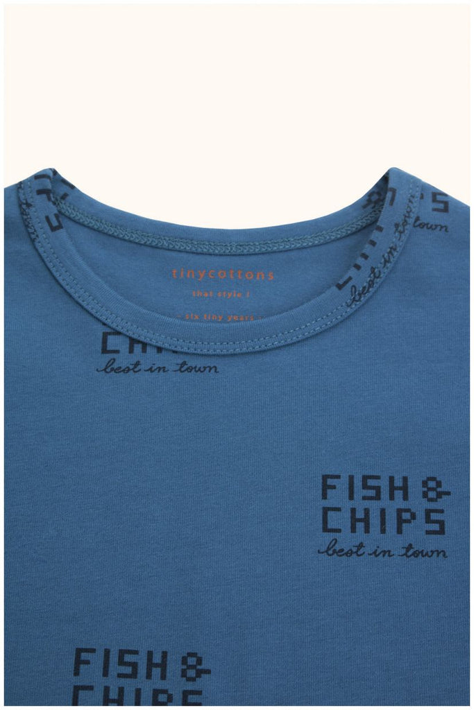 fish and chips ls relaxed tee light navy/navy