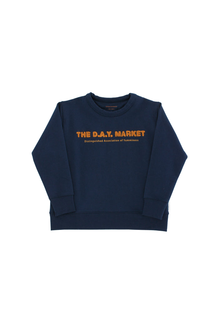the day market graphic sweatshirt navy/mustard