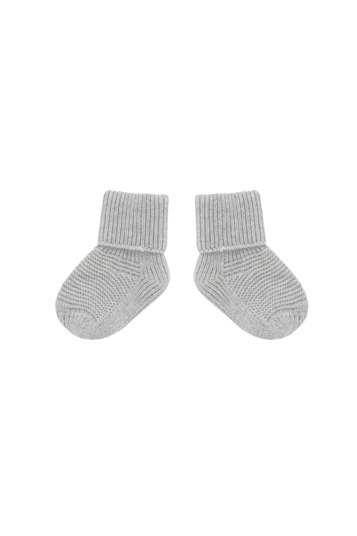 solid baby booties light grey heather