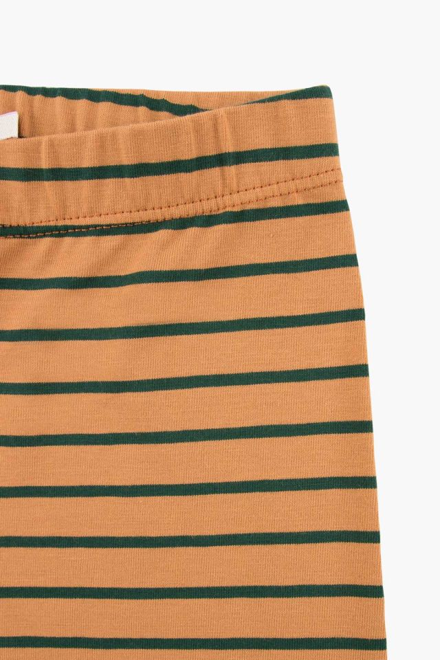 STRIPES PANT BROWN/BOTTLE GREEN