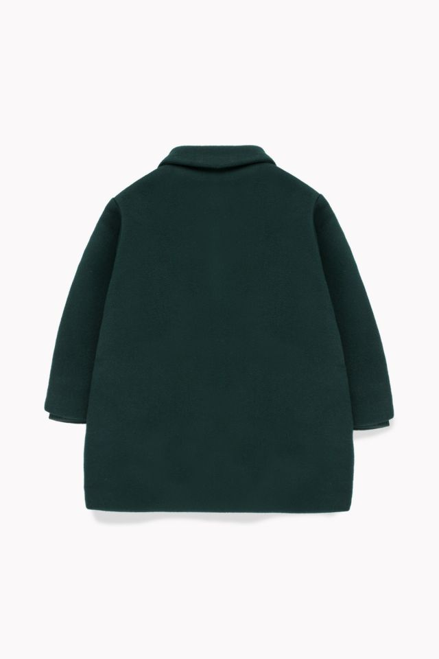 WOOLEN COAT BOTTLE GREEN