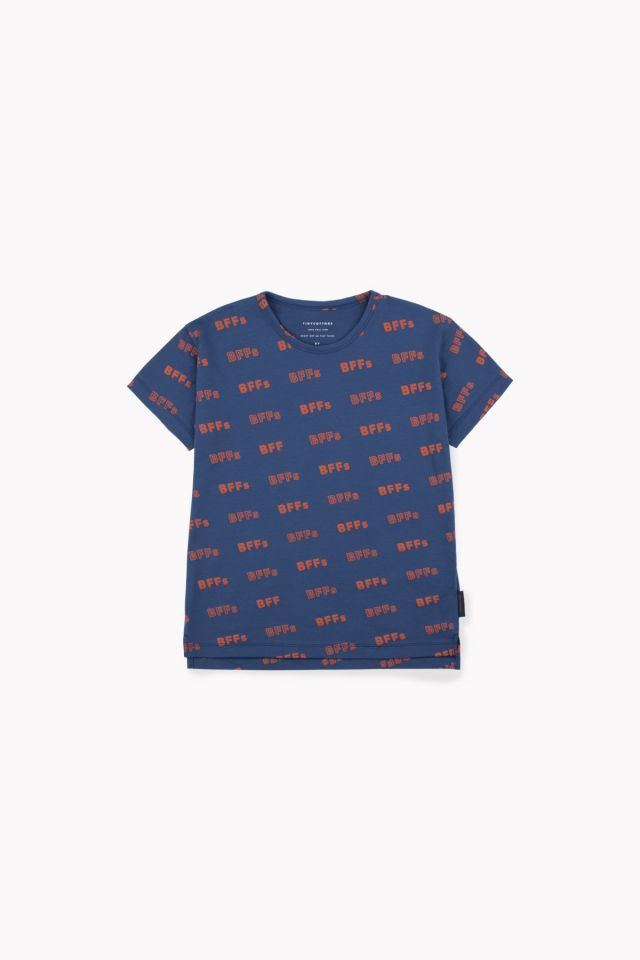 'BFFS' SS TEE LIGHT NAVY/SIENNA