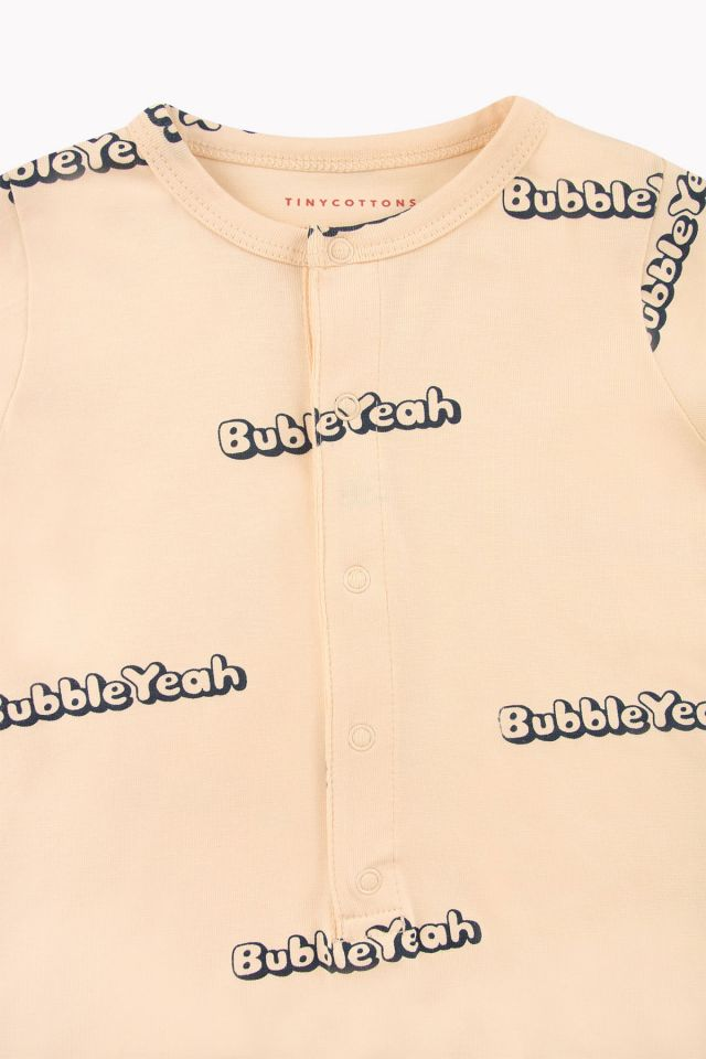 'BUBBLE YEAH' RELAXED ONE-PIECE CREAM/NAVY