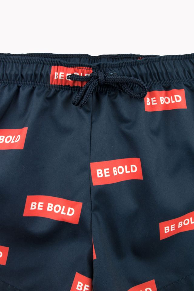 'BE BOLD' TRUNKS NAVY/RED