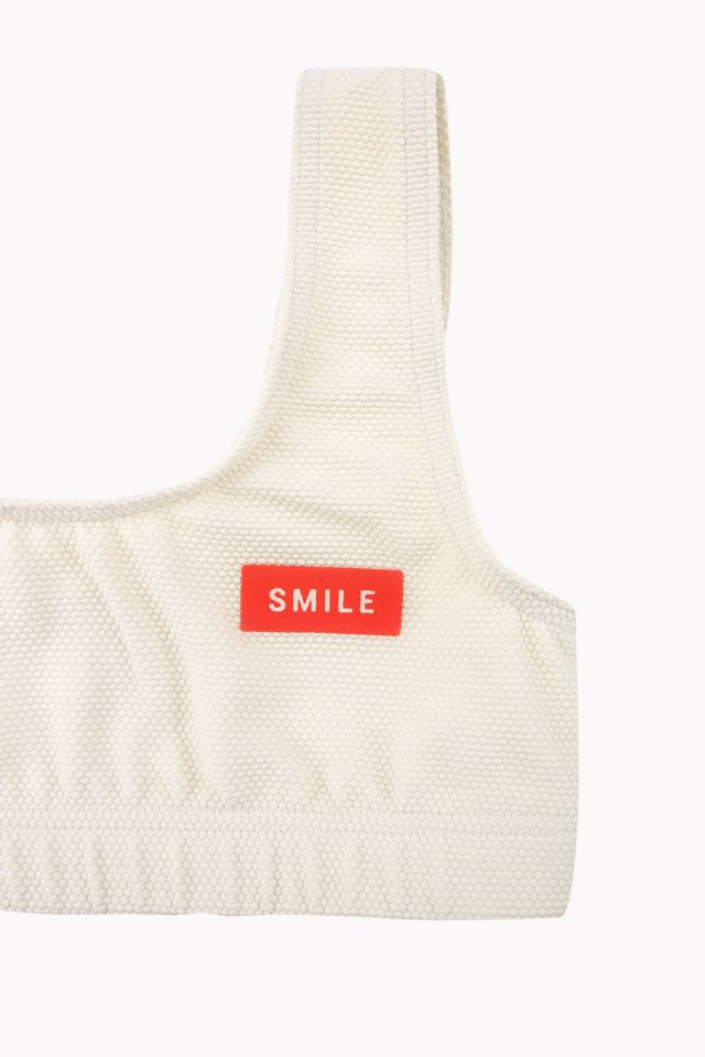'smile' swim set cream/navy