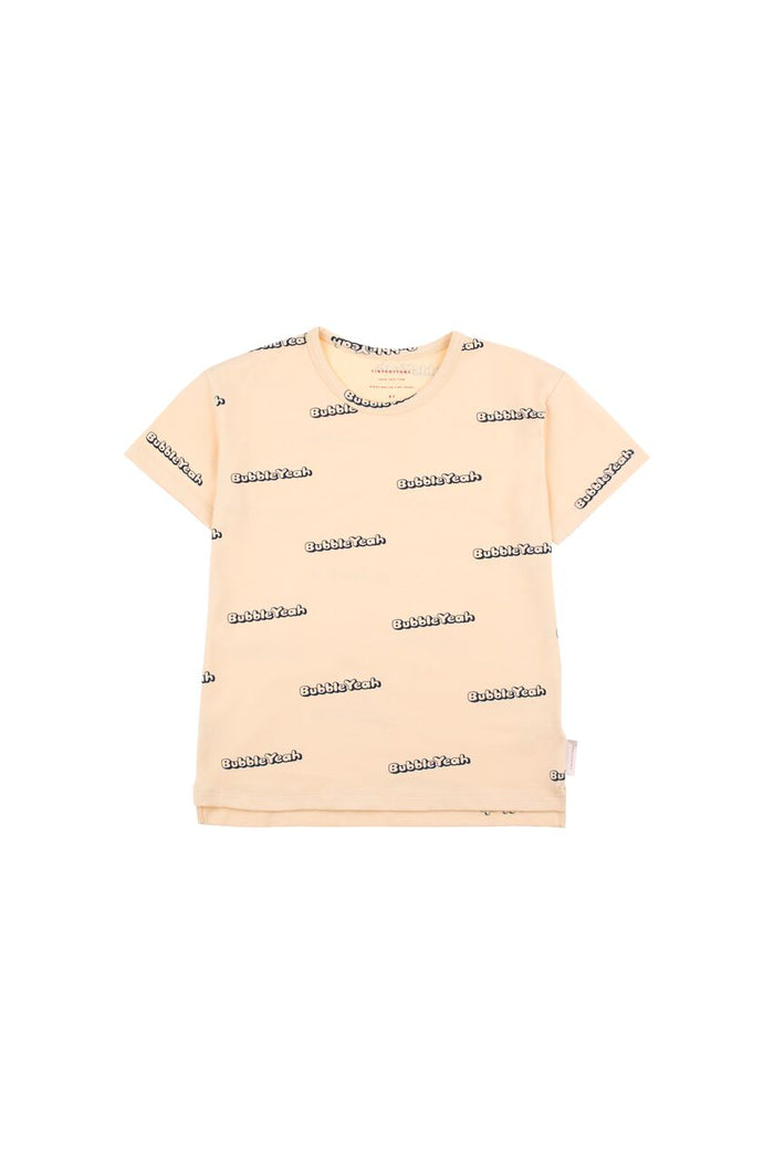 'BUBBLE YEAH' SS TEE CREAM/NAVY