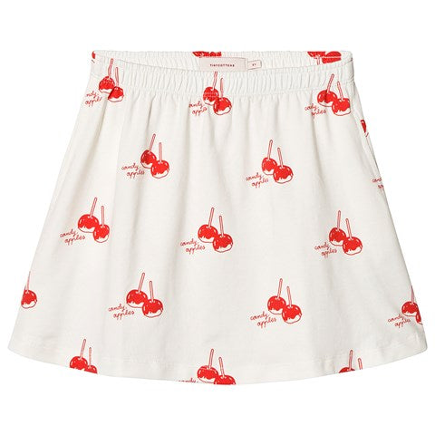 'CANDY APPLES' SHORT SKIRT OFF-WHITE/RED