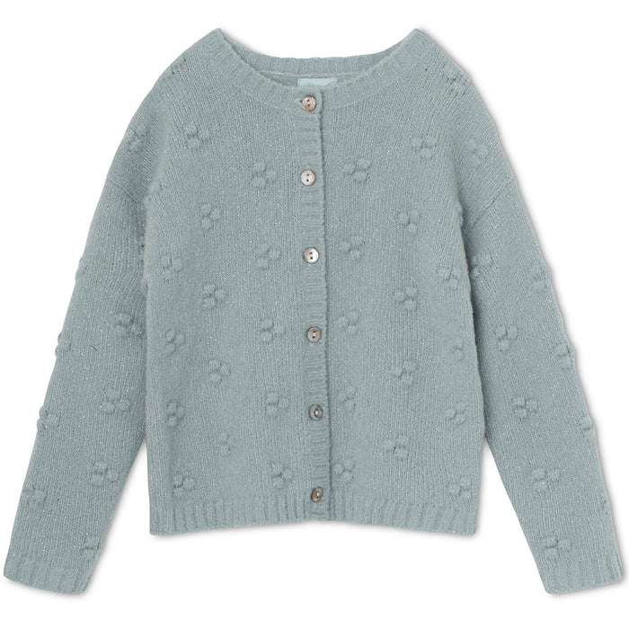 MINI A TURE DOT CARDIGAN PURITAN GREY
