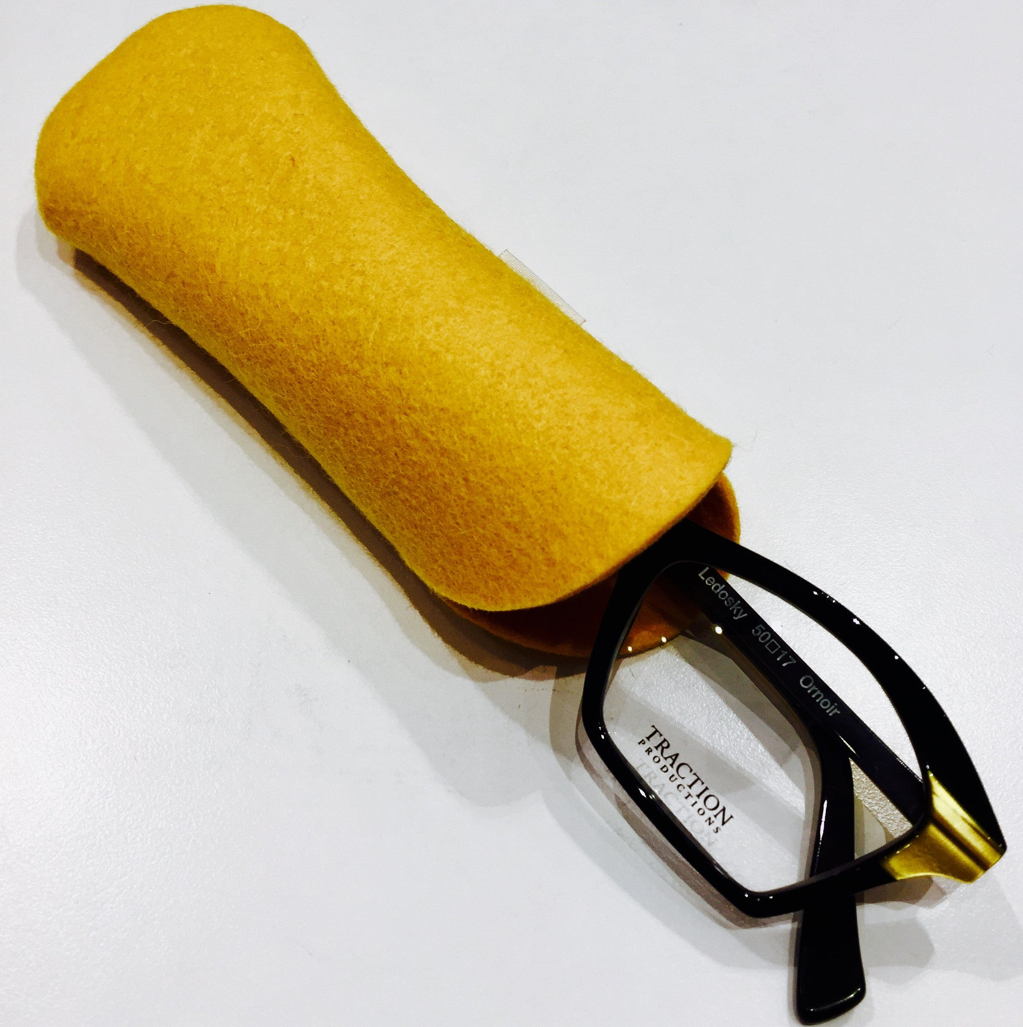 Hand-made French Felted eyeglass case
