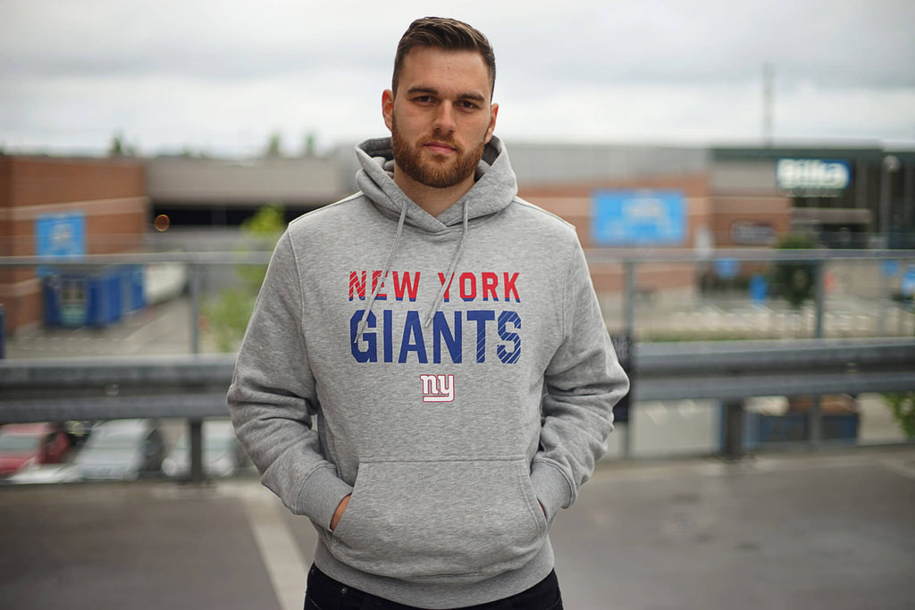 Kevin Jeppesen in New York Giants Fade Out Hoodie