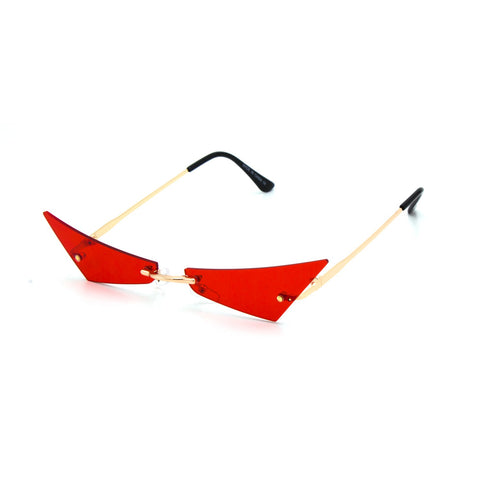 """CUT THROAT"" Rimless Fashion Sunglasses"