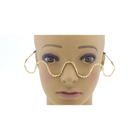 """FLEX"" Rhinestone Rimless Sunglasses"