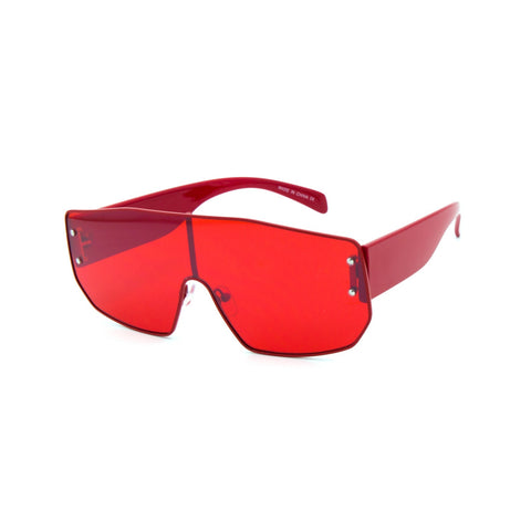 Clear Colorful  Shield Sunglasses
