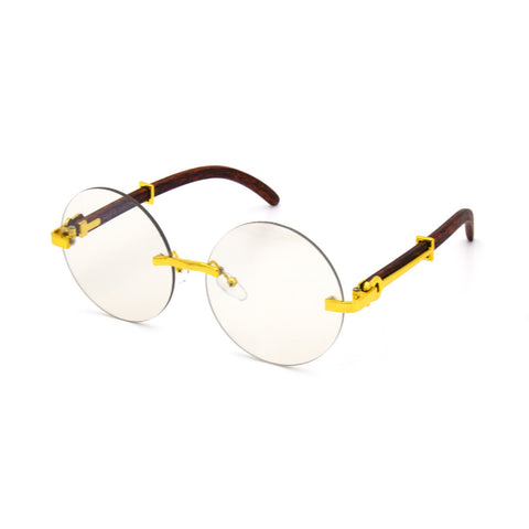 """BRAYDEN"" Round Clear Lens Glasses"