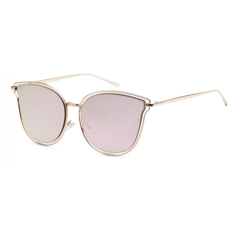 Cat Eye Reflective Round Sunglasses