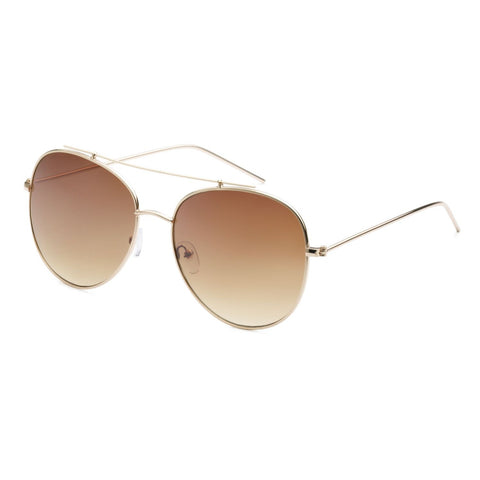 """READY"" Round Metal Sunglasses"