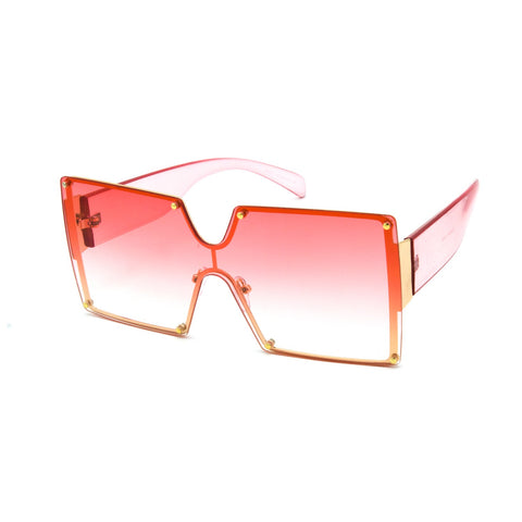 """Hot Shot"" Square Metal Frame Sunglasses"