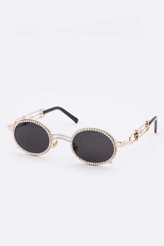 Luxury Rhinestone Round Sunglasses
