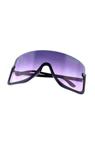 "Women ""Clouded"" Half Shield Sunglasses - Weekend Shade"